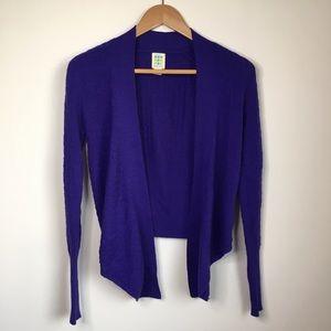 Title nine 100% wool open front cardigan sweater